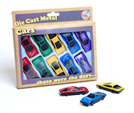 Retro die cast metal cars