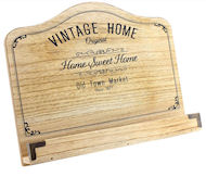 Vintage home design wooden recipe stand