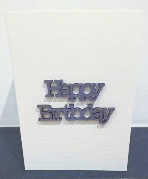 happy birthday - blue wood - card