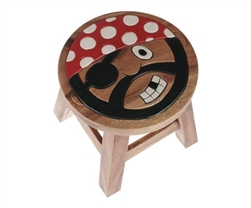 wooden pirate stool 27x27cm