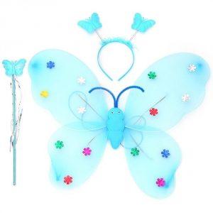 LED flashing wings - blue