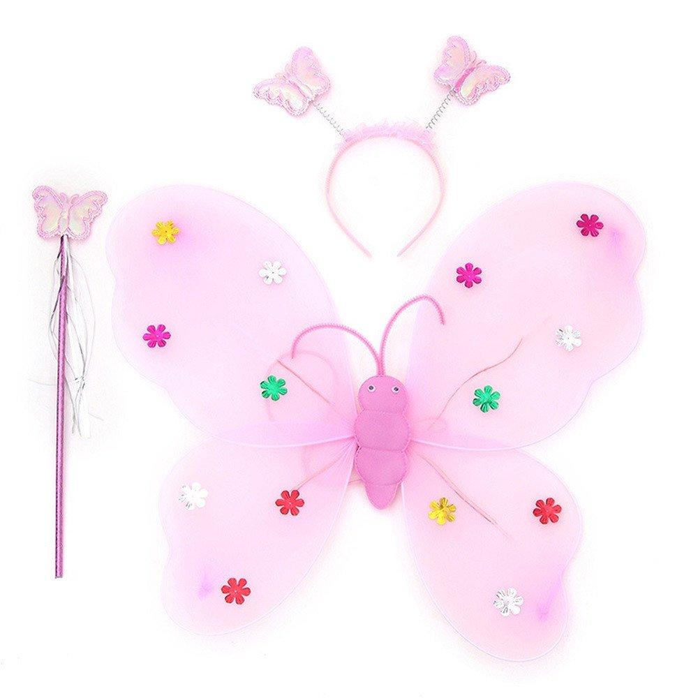 LED flashing wings - light pink