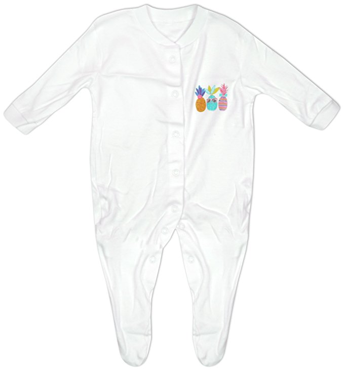 White baby grow with pineapples 0-3 months