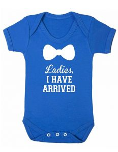 ladies I have arrived baby grow - blue 3-6 months