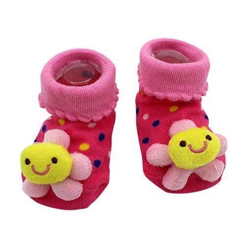new born booties - flower