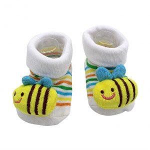 new born booties - bee