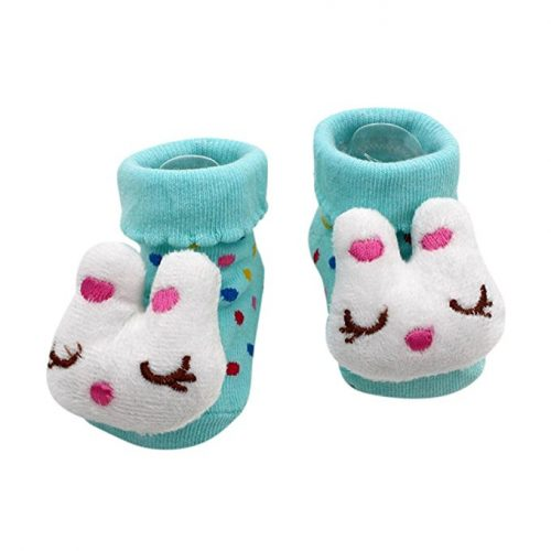 new born booties - bunny