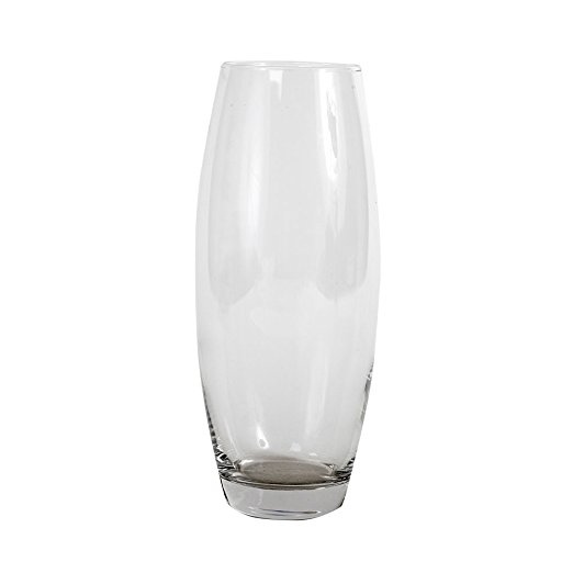 rounded glass vase height 26cm