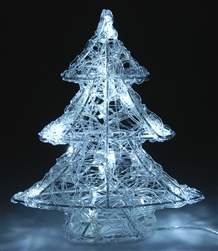 Battery operated LED Christmas tree 25cm
