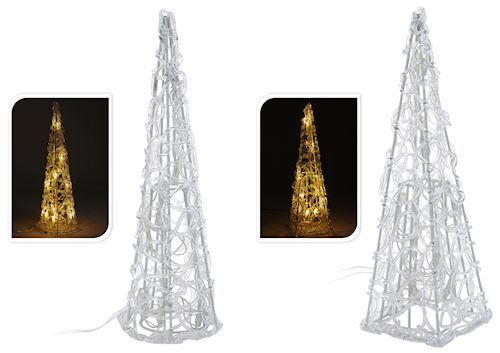 Battery operated LED Christmas cone