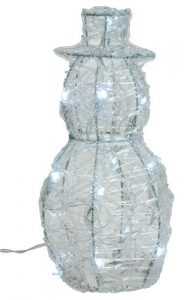 Battery operated LED snowman 25cm