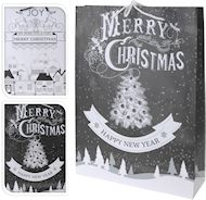 Christmas black or white gift bags 16cm