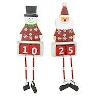 christmas countdown santa and snowman