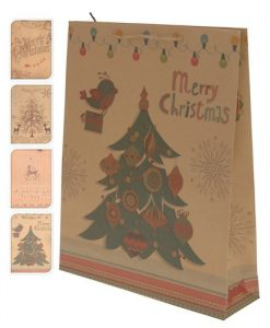 christmas large gift bags 33x41cm & medium 25x34cm