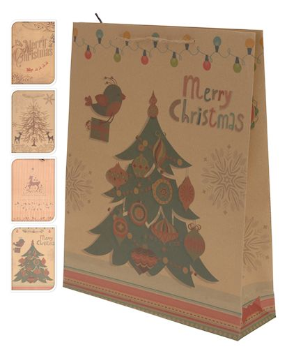 christmas large gift bags 33x41cm & medium 25x34cm