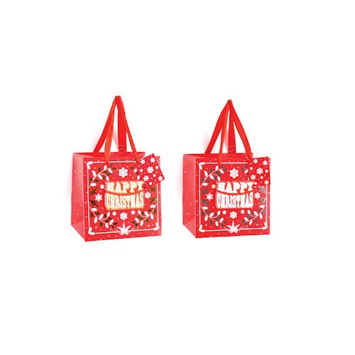 christmas red gift bags 23cm &15.5cm