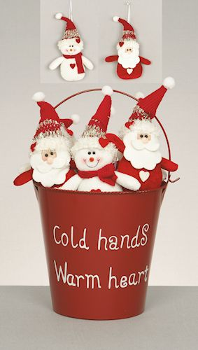 christmas soft toys - santa or snowman