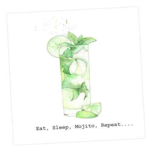 Eat, sleep, mojito, repeat card - Sartorial Boutique and Gifts