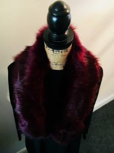 Fur Collar - Wine - Sartorial Boutique and Gifts