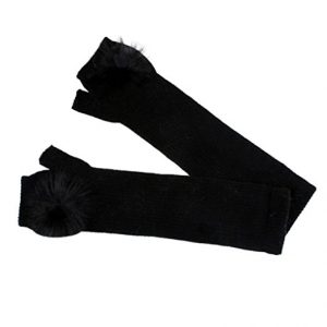 Fur fingerless long gloves black - Sartorial Boutique and Gifts