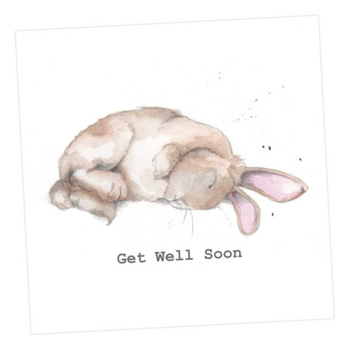 Get well soon Bunny card - Sartorial Boutique and Gifts
