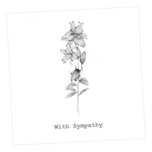 With sympathy lily card - Sartorial Boutique and Gifts