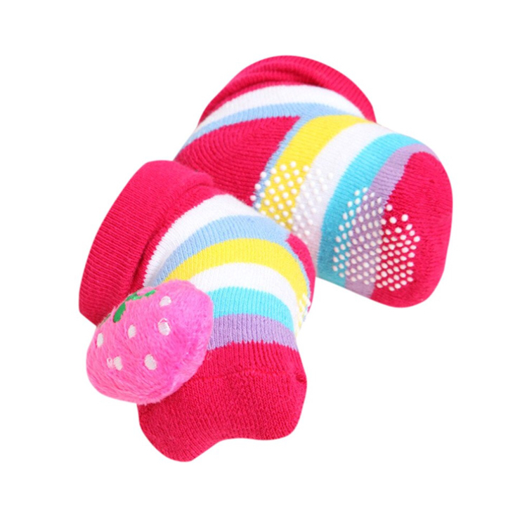 new born booties - stripes & strawberries - Sartorial Boutique and Gifts
