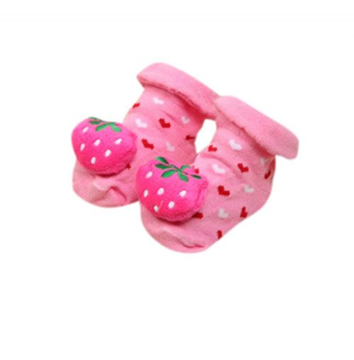 new born booties - hearts & strawberries - Sartorial Boutique and Gifts