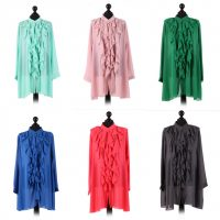 Chiffon Frill detail top - free size Italian style - Sartorial Boutique and Gifts