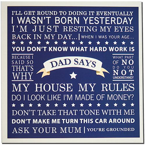 Dad phrases card - Sartorial Boutique and Gifts