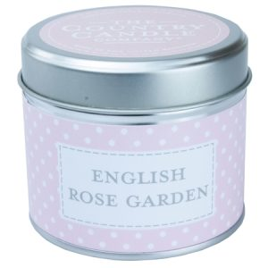 English Rose scented candle in a tin - Sartorial Boutique and Gifts
