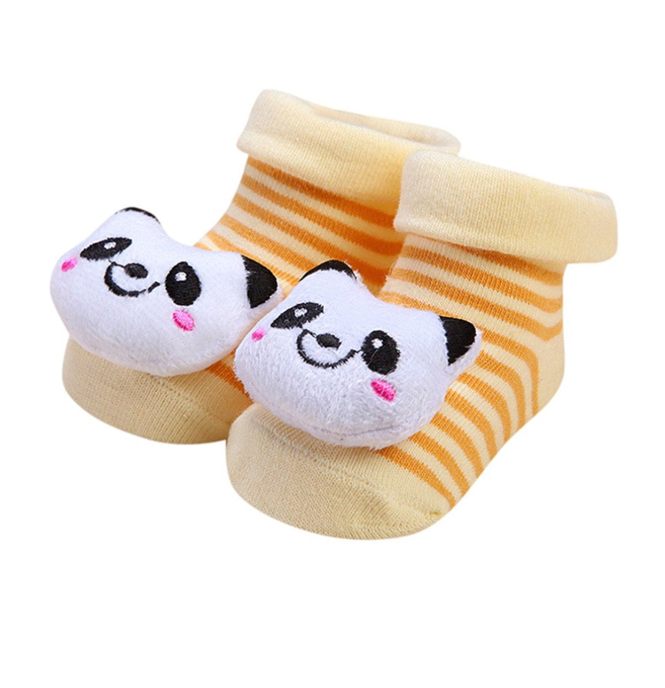 new born booties - beige panda - Sartorial Boutique and Gifts