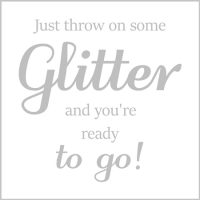 Just throw on some glitter and you're ready to go - card - sartorial boutique and gifts
