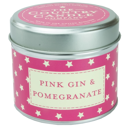 Pink Gin & Pomegranate scented candle in a tin - Sartorial Boutique and Gifts