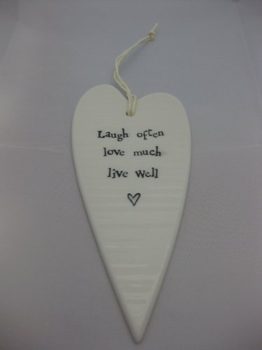 Porcelain Heart - laugh often love much live well - Sartorial Boutique and Gifts
