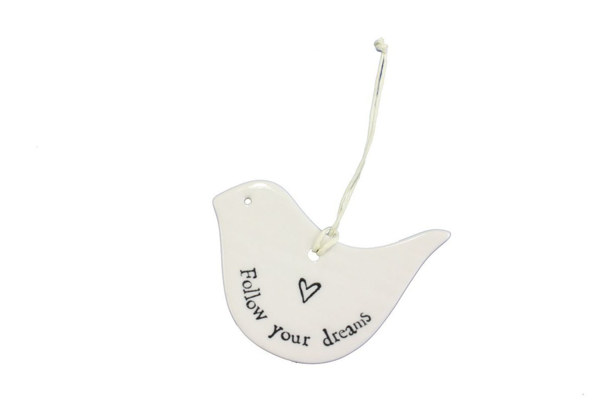 Porcelain bird - follow your dreams - Sartorial Boutique and Gifts