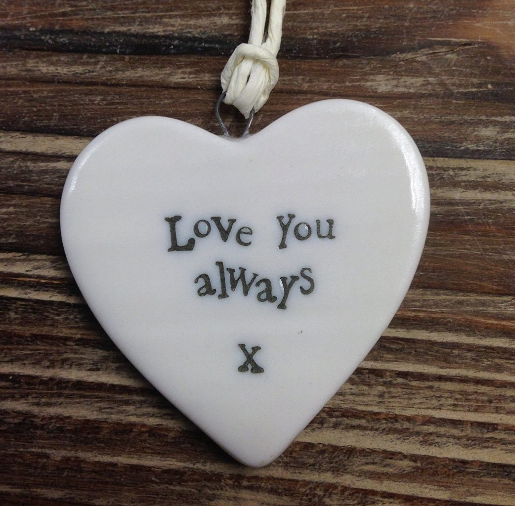 Small Porcelain Heart - love you always - Sartorial Boutique and Gifts