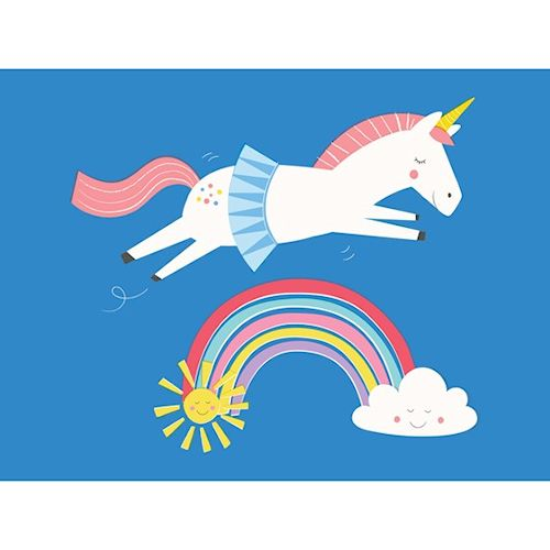 Unicorn and rainbow card - sartorial boutique and gifts