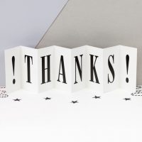 Thanks - Concertina card - Coulson Macleod card - Sartorial Boutique and Gifts