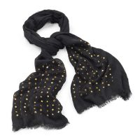 Black scarf with gold stud detail - Sartorial Boutique and Gifts
