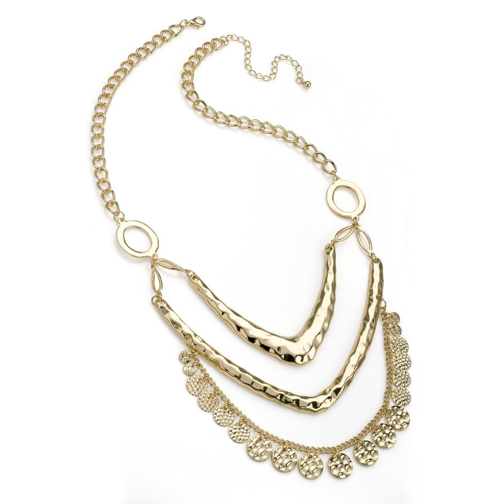 3 row gold coloured necklace - Sartorial Boutique and Gifts
