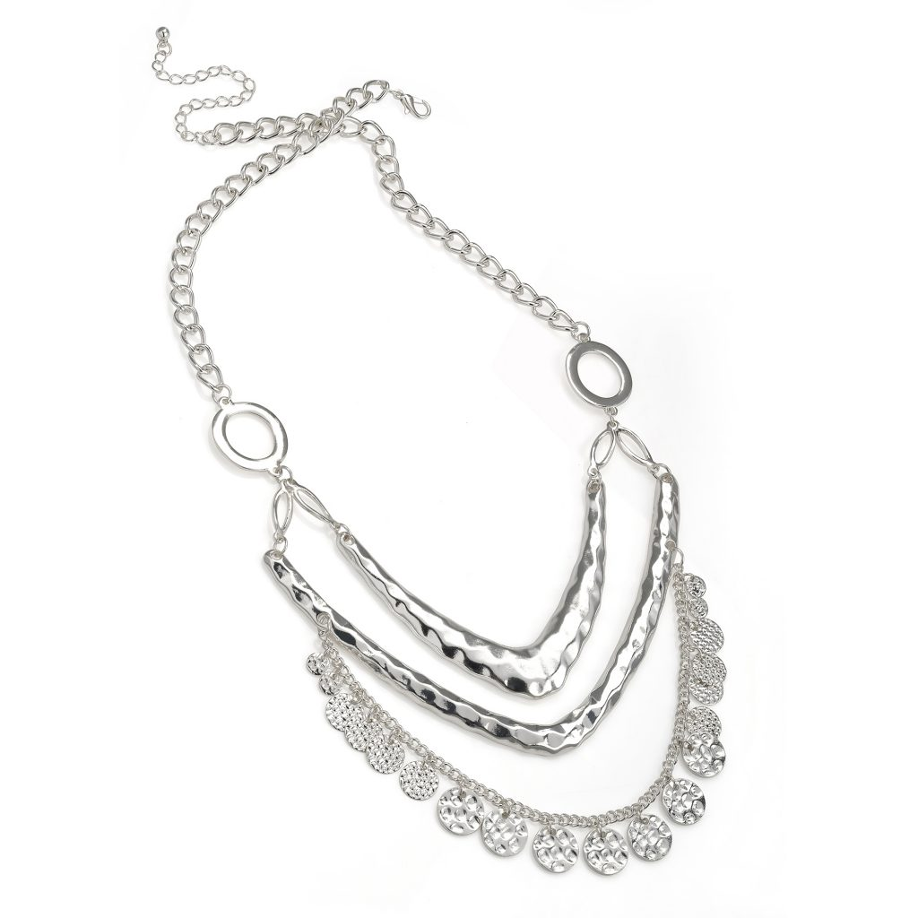 3 row silver coloured necklace - Sartorial Boutique and Gifts