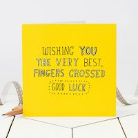 Wishing you the very best fingers crossed good luck - Coulson Macleod card - Sartorial Boutique and Gifts