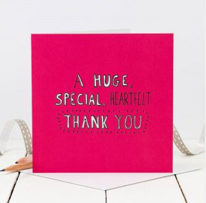 A huge special heartfelt thank you - Coulson Macleod card - Sartorial Boutique and Gifts