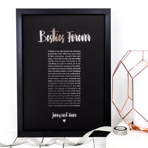 Coulson Macleod bespoke A3 prints - Besties forever - Sartorial Boutique and Gifts
