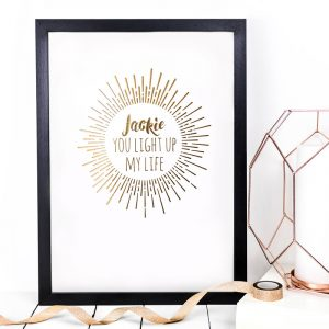 Coulson Macleod bespoke A3 prints - You light up my life - Sartorial Boutique and Gifts