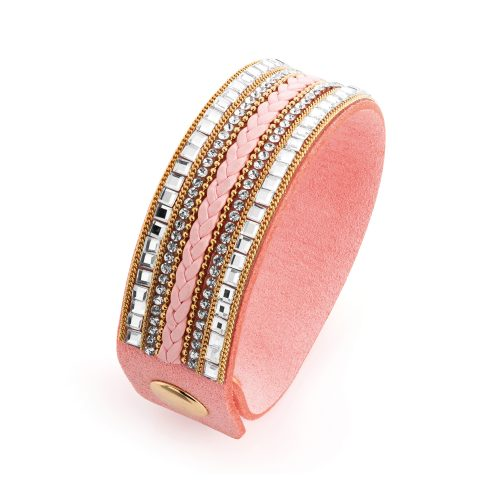 Peach cuff bracelet with bead detail - Sartorial Boutique and Gifts