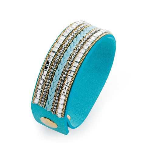 Turquoise cuff bracelet with bead detail - Sartorial Boutique and Gifts