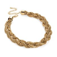 gold colour plaited necklace - Sartorial Boutique and Gifts
