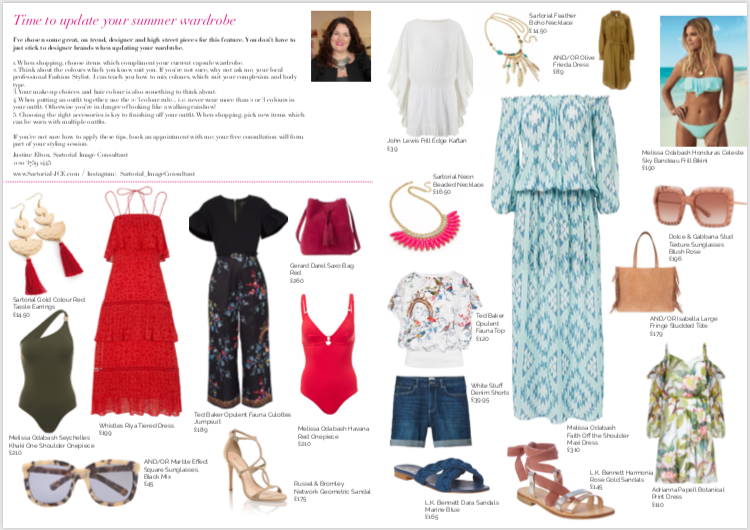 Sartorial Image Consultant - Summer Style tips 2018 - the Darling Magazine